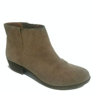Lucky Brand Benissa Suede Tan Ankle Boots Sz 9.5